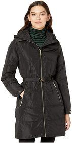 Kate Spade New York Belted Hooded Down