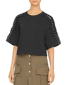 3.1 Phillip Lim - Embellished Cropped Cotton Tee