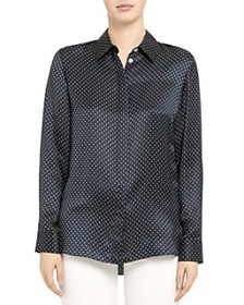 Theory - Polka Dot Classic Fitted Shirt