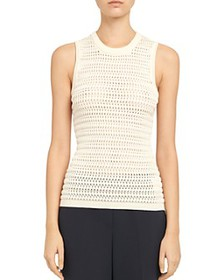 Theory - Cheri Cotton-Viscose Textured Tank Top