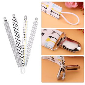 WALFRONT 4pcs Baby Pacifier Clip Chain Printing Co