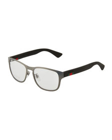 Gucci Square Metal/Acetate Optical Glasses