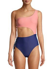 Juicy Couture Women's One-Piece Asymmetrical Swims