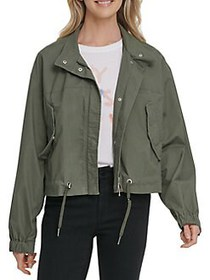 Dkny Jeans Stretch-Cotton Full-Zip Jacket ARMY GRE
