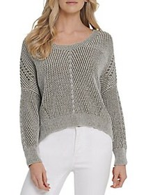Dkny Jeans Ribbed Cotton-Blend Sweater ARMY GREEN