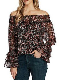 CeCe by Cynthia Steffe Floral Off-The-Shoulder Ruf