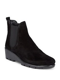 The Flexx Slimmer Waterproof Suede Booties BLACK W