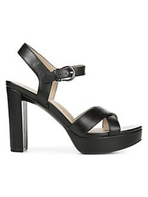 Naturalizer Mia Leather Sandals BLACK