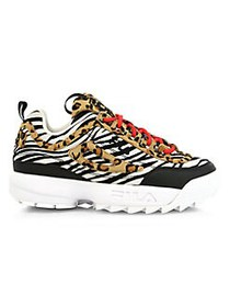 FILA Disruptor II Animal-Print Sneakers BLACK MULT