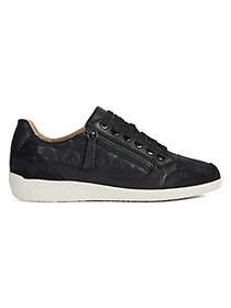 Geox Myria Leather Sneakers BLACK