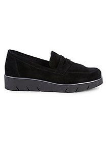The Flexx Harrow Suede Platform Sneakers BLACK