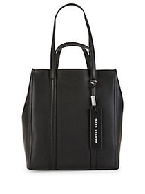 Marc Jacobs The Tag Coated Leather Tote BLACK
