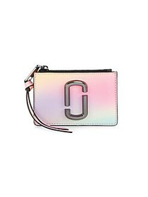 Marc Jacobs The Snapshot Airbrushed Zip Coated Lea