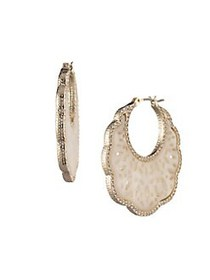 Marchesa Goldtone & Crystal Drop Earrings GOLD