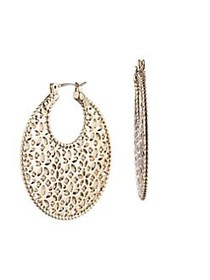 Marchesa Goldtone Filigree Drop Earrings GOLD