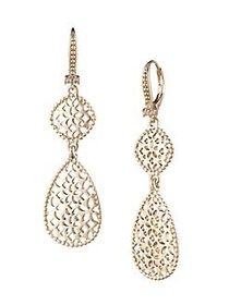 Marchesa Filigree Goldtone Drop Earrings GOLD