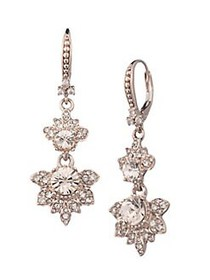 Marchesa Rose Goldtone & Crystal Drop Earrings ROS