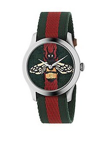 Gucci G-Timeless Contemporary Green-Red-Green Bee