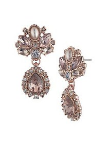Marchesa Rose Goldtone, Faux Pearl & Crystal Drop
