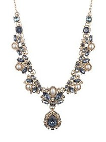 Marchesa Goldtone, Faux Pearl & Crystal Y Necklace