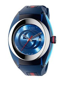 Gucci Sync Stainless Steel Rubber Watch BLUE
