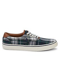 Polo Ralph Lauren Plaid Cotton & Leather Sneakers