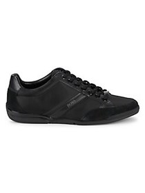 HUGO BOSS Saturn Leather Low-Rise Sneakers BLACK