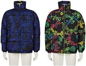 Versace Jeans Couture Baroque Print Reversible Puf