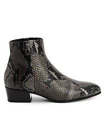 Aquatalia Fuoco Snakeskin-Print Leather Booties AN