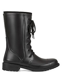 Aerosoles Vernon Lace-Up Rain Boots BLACK