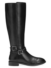 Aerosoles Julia Leather Riding Boots BLACK