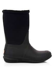 Hunter Original Faux Sherpa-Lined Boots BLACK