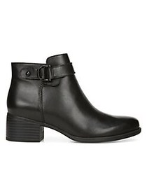 Naturalizer Premium Drewe Leather Booties BLACK