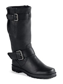 Gentle Souls by Kenneth Cole Buckled Up Boots BLAC