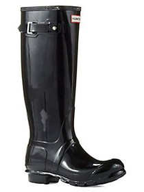 Hunter Women's Original Gloss Rainboots BLACK