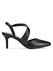 Aerosoles Rita Slingback Pumps BLACK LEATHER