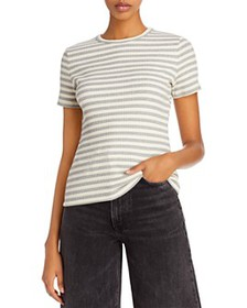 Theory - Striped Ribbed Tee