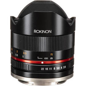 Rokinon 8mm f/2.8 UMC Fisheye II Lens for Sony E (