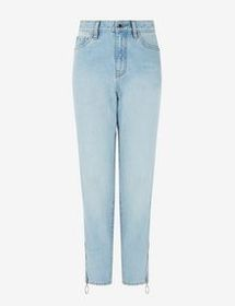 Armani J32 BOYFRIEND-CUT JEANS WITH SIDE ZIPS