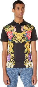 Versace Jeans Couture Jungle Baroque Print Polo