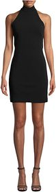 Nicole Miller Mock Neck Mini Dress