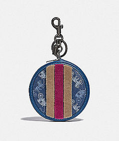 Coach coin case bag charm with horse and carriage.