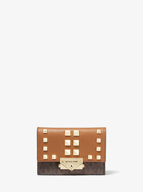 Michael Kors Cece Small Studded Logo and Leather W