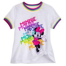 Disney Minnie Mouse Knotted T-Shirt for Girls