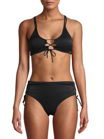 XOXO Women's Keyhole Detail Bralette Top With Keyh