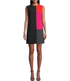 Nicole Miller Stretchy Tech Color-Block Dress