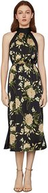 BCBGMAXAZRIA Printed High Neck Midi