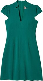 Vince Camuto Kors Crepe Fit-and-Flare with Notch N