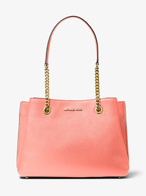 Michael Kors Teagan Large Pebbled Leather Shoulder