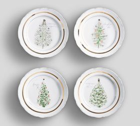 Pottery Barn Vintage Christmas Tree Appetizer Plat